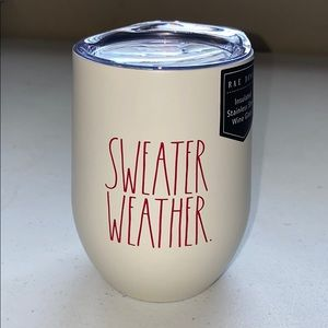 NEW Rae Dunn SWEATER WEATHER. Wine Glass